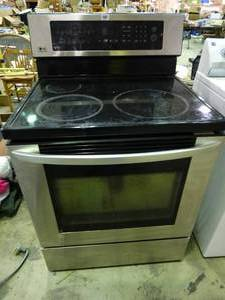 LG stainless steel glass top stove