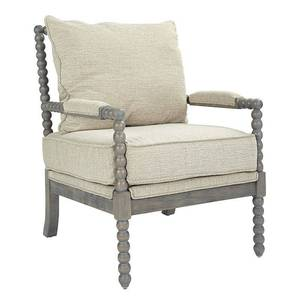 Ave Six Abbot Chair in Linen Fabric with Brushed Grey Base- Retail:$395.23