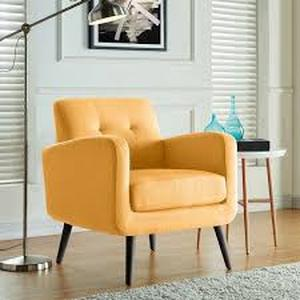Carson Carrington Keflavik Gold Yellow Mid-Century Accent Chair - Retail:$238.00