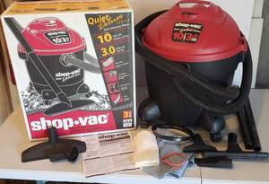 10 Gal. Shop Vac ~ 3.0 HP W/Accessories and Box ~ Nearly New ~ works