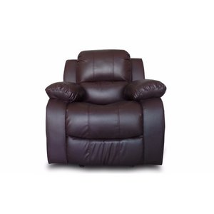 Classic Oversize and Overstuffed Single Seat Bonded Leather Recliner Chair- Retail:$322.99