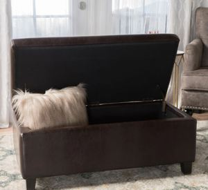 Breanna Contemporary Upholstered Storage Ottoman